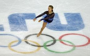 Картинка лёд, фигурное катание, олимпийские кольца, РОССИЯ, олимпийская чемпионка, Сочи 2014, Юлия Липницкая, фигуристка, Yulia Lipnitskaya, …