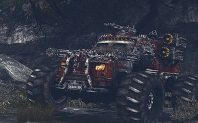 Картинка Chaos, Guns, Rockets, Weapons, Gatling Gun, Monster Truck