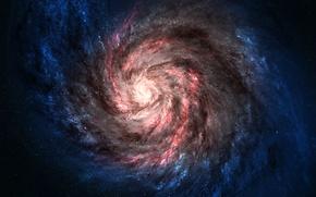 Картинка космос, звезды, галактика, черная дыра