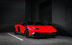 Картинка Lamborghini, Red, Color, Aventador, Supercar, 50th Anniversary, LP720-4, Customized