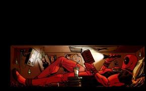 Картинка Комикс, Deadpool, Marvel, Дэдпул, Comics, Wade Wilson, Марвел, Уэйд Уилсон