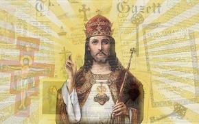 Картинка desktop, light, heart, holy, cross, key, God, king, Jesus, Jesus Christ, redemptor