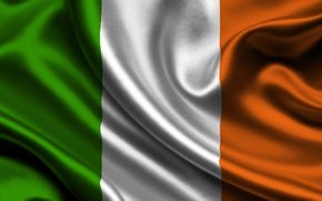 Картинка Белый, Флаг, Оранжевый, Ирландия, Текстура, Зелёный, Ireland, Flag, Республика Ирландия