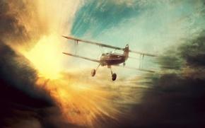 Обои самолет, полет, мечта