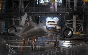 Картинка музей, шатл, Самолёт, аэронавтики, Sr-71A, экспонат