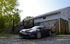 Картинка wheels, corvette, black, chevrolet, z06, strasse