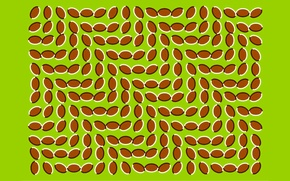 Картинка волны, листья, движение, узор, симметрия