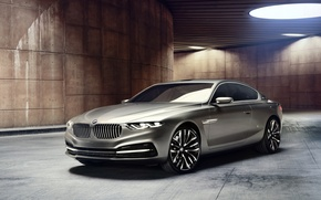Картинка фон, лампы, купе, BMW, БМВ, концепт, Coupe, передок, Гран Лассо, Gran Lusso
