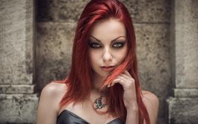 Картинка Gothic, Piercing, RedHead, Darya Goncharova, Bobby Kostadinov