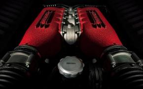 Картинка Italia, Ferrari 458, Engine