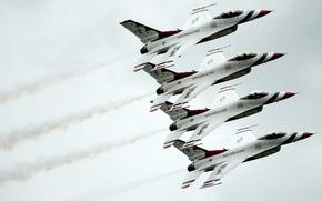 Обои группа, истребитель, Fighting, F-16, Falcon, Dynamics, General