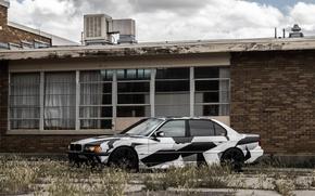 Картинка BMW, Тюнинг, БМВ, winter, E38, Ana, 740il, arctic camo, camo