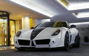 Картинка Ferrari, 599, White, Mansory, Stallone