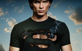Обои актер, сериал, Супермен, Кларк Кент, Том Уэллинг, Тайны Смолвиля, Smallville, Tom Welling, Clark Kent