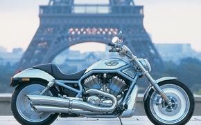 Обои Мотоцикл, Париж, Harley Davidson, Пейзаж
