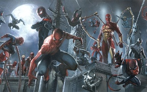 Картинка marvel, spider man, spider girl, captain spider, miles morales, spider ham, spider verse, may parker, …