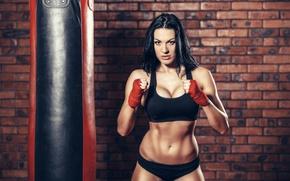 Обои brunette, boxing, pose