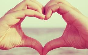 Обои макро, руки, сердце, love, чувство, любовь