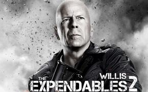 Обои Bruce Willis, Неудержимые 2, Брюс, Expendables 2, лысый