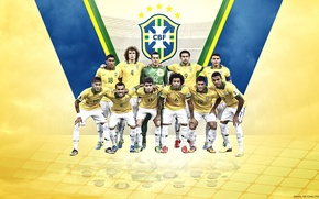 Картинка wallpaper, logo, team, football, Champions, Brasil, players