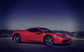 Картинка Красная, Феррари, Италия, Ferrari, Red, 458, italia, Speciale