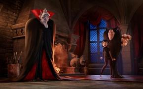 Картинка мультфильм, Дракула, Vlad, Hotel Transylvania 2, монстры на каникулах