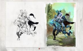 Картинка Valve, Traxex, Dota 2, Drow Ranger, Carry, Trueshot Aura, Gust, Marksmanship, Frost Arrows