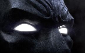 Картинка game, Batman, eyes, man, Arkham Asylum, face, hero, mask, DC Comics, Bruce Wayne, powerful, strong, …