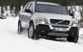 Обои Volvo, снег, зима