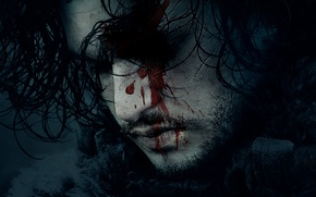 Картинка blood, fantasy, actor, movie, face, Song of Ice and Fire, season 6, film, Jon Snow, ...