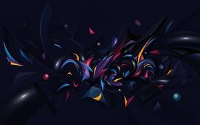 Обои шарики, абстракция, формы, разноцветные
