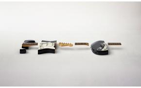 Обои гитара, куски, порезанная