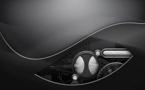 Обои проем, минимализм, металл, техно, устройство
