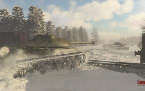 Картинка ссср, танк, winter, tank, war thunder, hibikirus, ис3, иосиф сталин, is-3