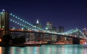 Обои panorama, Bridge, Brooklyn