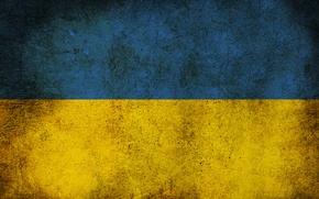 Обои флаг, грязь, Украина