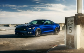 Картинка car, Ford Mustang, blue, hq wallpaper, William Stern