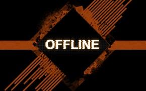Картинка полосы, квадраты, пятна, Надпись, offline
