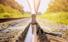Картинка legs, woman, rail