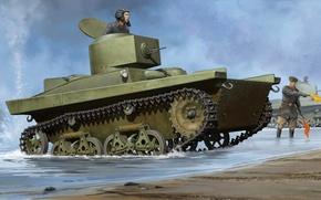 Картинка war, art, painting, Т-37А