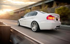 Картинка BMW, white, sedan, E90