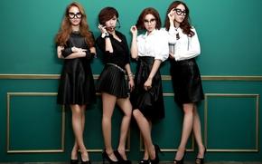 Картинка музыка, девушки, sexy, black, legs, азиатки, body, Южная Корея, k-pop, Sunny Hill