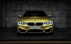 Картинка бмв, BMW, жёлтая, yellow, Coupe, front, F82, Tomirri photography