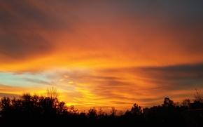 Картинка fire, cloud, sunrise, orange, Morning
