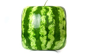 Картинка рендеринг, square, watermelon, cube, квадратный арбуз