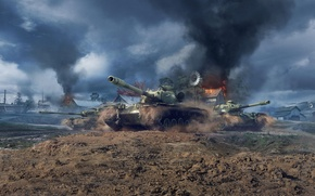 Картинка World of Tanks, Мир Танков, T110E5, Wargaming Net, WoTB, Blitz, WoT: Blitz, World of Tanks: …