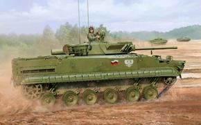 Картинка war, art, painting, tank, BMP-3F