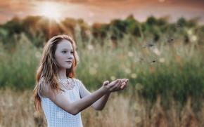 Обои девочка, настроение, природа