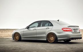 Картинка Mercedes, wheels, E-class, мерседес, E350, rearside
