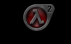 Обои лямбда (λ), half-life 2, logo
